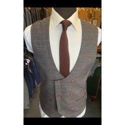 Marc Darcy Waistcoat Grey/Orange