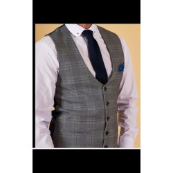 Marc Darcy Waistcoat Grey/Blue