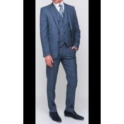 Herbie Frog Tailored Fit  Suit Blue