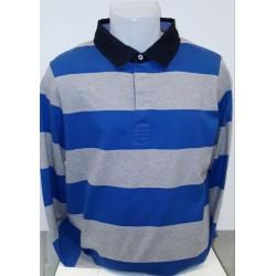 Fynch Hatton Rugby Top Blue/grey