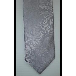 Montague Silver Pattern Grey/Silver Tie