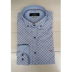 Carlos Cordoba Multi Colour Patterned Shirt-Light Blue