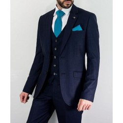 Cavani Seeba 3 Piece Suit-Navy