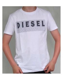 Diesel Kids Logo Tee-White