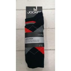 Jockey 3 Pack Check Socks-Navy