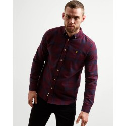 Lyle & Scott Flannel Check Shirt-Burgundy