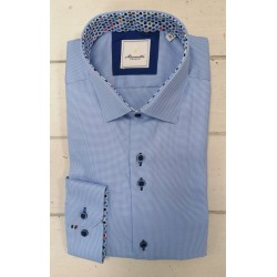 Marnelli Blue Small Patterned Shirt