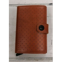 Secrid Brown Dotted Wallet