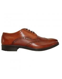 Bugatti Light Flexible Shoe-Two Tone Brown Leather Finish
