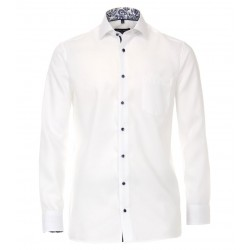 Casa Moda White Semi Plain Shirt