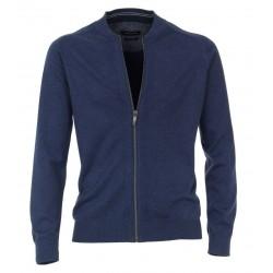 Casa Moda Full Zip Jumper-Blue