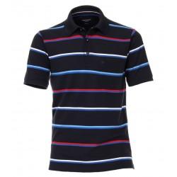 Casa Moda Striped Polo Shirt