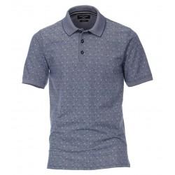 Casa Moda Patterned Polo Shirt