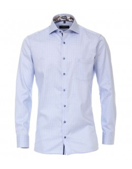 Casa Moda Light Blue Checked Shirt