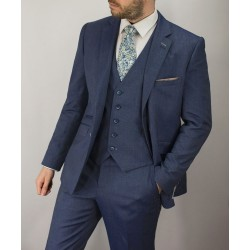 Cavani Steele 3 Pc Suit-Blue/Grey