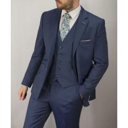 Cavani Steele 3 Pc Suit-Blue/Grey