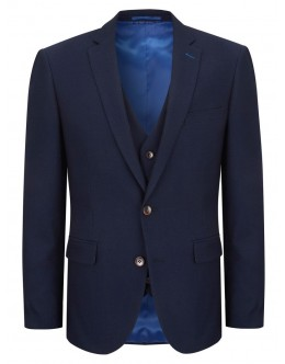 Daniel Grahame 3 Piece Honeycomb Pattern Suit-Navy
