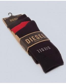 Diesel Louis Socks-Navy/Red 3 Pack