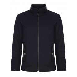 Douglas Hardy Quilted Casual Jacket-Navy
