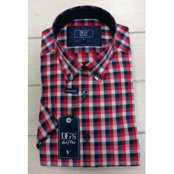Drifter Short Sleeve Shirt-Red Check