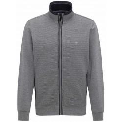 Fynch Hatton Full Zip Jumper-Grey