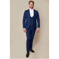Marc Darcy 3 Piece Suit-Royal Blue