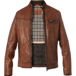Milestone Ascoli Leather Jacket-Cognac