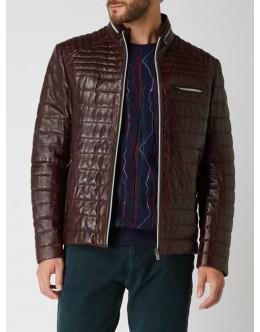 Milestone Terenzio Leather Jacket-Dark Brown