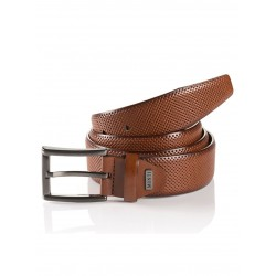 Monti Leather Belt-Tan