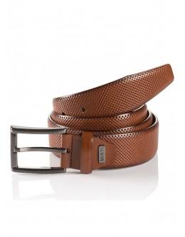 Monti Leather Belt-Tan