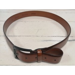 Monti Brown Ribbed Belt