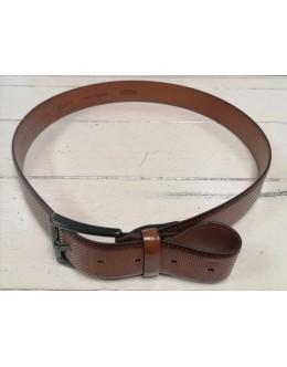 Monti Brown Ribbed Belt