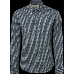 No Excess Printed Stretch Shirt-Triangle Pattern