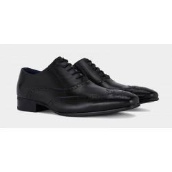 Remus Uomo Leather Brogue-Black