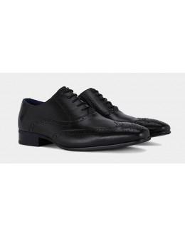 Remus Uomo Leather Brogue-Black