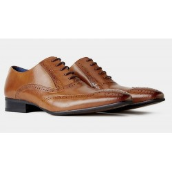 Remus Uomo Leather Brogues-Tan