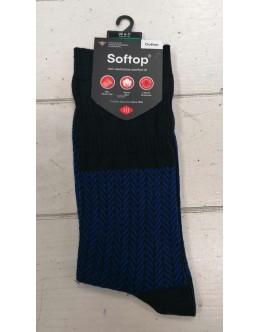 HJ Hall Softop Non Elatic Sock-Blue
