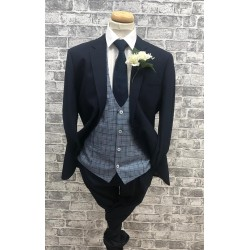 Cavani Navy 3 Piece Suit