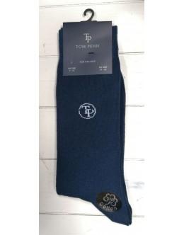 Tom Penn Navy Cotton Sock