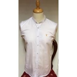 Tom Penn Grandad Collar Shirt-White