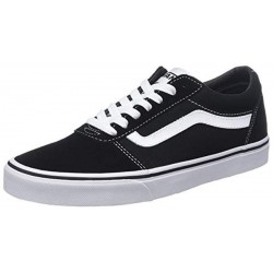 Vans Ward Trainers Suede Canvas Black/White