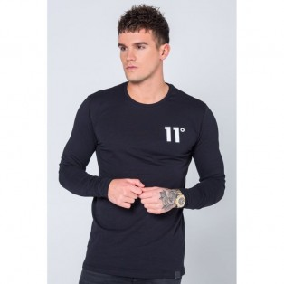 11° Long Sleeve T-Shirt-Black