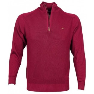 Andre Cobh Waffle Knitwear-Burgundy