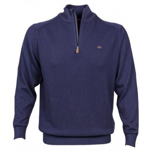 Andre Cobh Waffle Knitwear-Navy