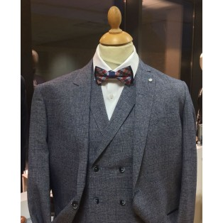 Cavani Antonia Blue/Grey 3 Piece Suit