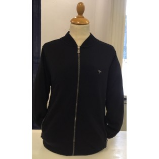 Fynch Hatton Full Zip Jacket-Navy