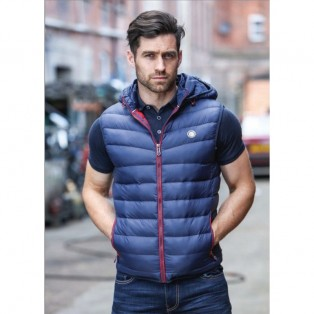 Kingpin Derry Padded Gilet-Navy