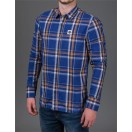 Diesel Matt L/S  Check Shirt in Navy Check