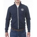 Mineral Molara Zip Track Top Navy/White