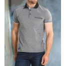 Outrage Linley Polo Shirt-Black Birds Eye